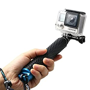 EFOTOPRO Adjustable Aluminum Telescoping Monopod Handheld Extension Selfie Stick for Gopro Hero 2 3 3+ 4 5 SJ4000 SJ5000 SJ6000 Action Cameras(7-19 inch)