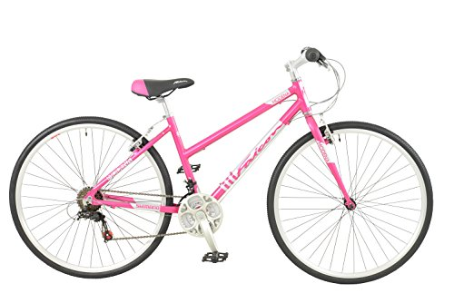 Falcon Women's Modena Alloy Hybrid-Pink/Silver, 12 Years
