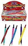 50 globos cohetes - globos y tubos de cohetes (paquete de 50)