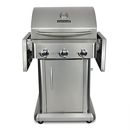 chef 39 s grill rt2417s 1 3 burner 36000 btu liquid propane gas grill stainless steel 552 sq in. Black Bedroom Furniture Sets. Home Design Ideas