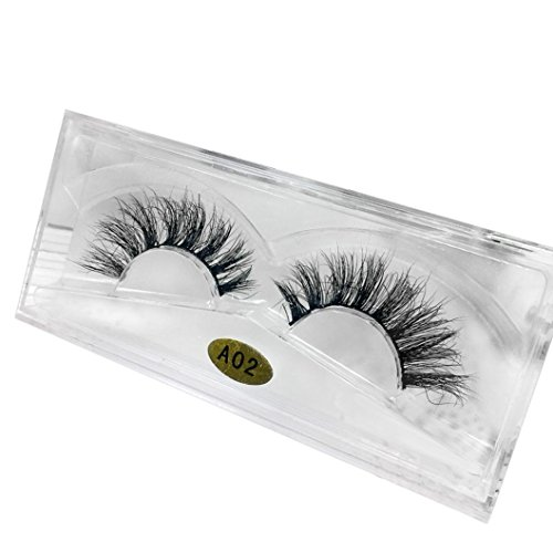 NewKelly 3D Natural Multi Layer Thick Cross Eye Lashes False Eyelashes A02 -