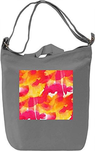 Red Watercolor Pattern Borsa Giornaliera Canvas Canvas Day Bag| 100% Premium Cotton Canvas| DTG Printing|