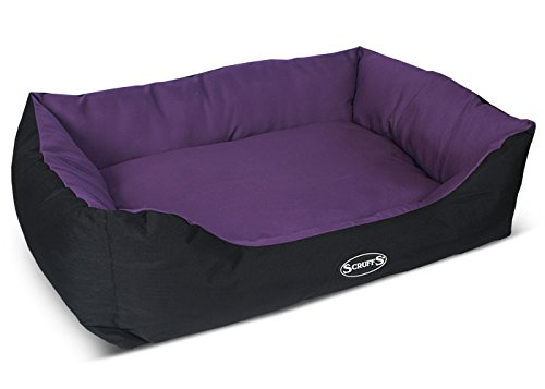Scruffs Dog Box Bed, Plum