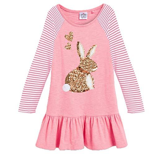 Girls Dresses 3 4 (VIKITA 2018 Toddler Girls Dresses Long Sleeve Girl Dress for Kids 3-8 Years LH0330,)