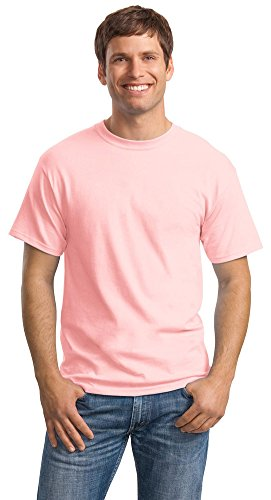 Hanes Mens ComfortSoft Heavyweight 100% Cotton T-Shirt, Pale Pink