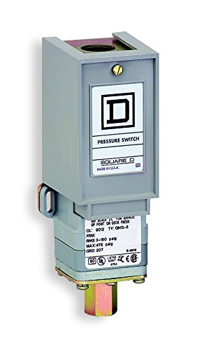 Square D 9012GNG4 pressure switch adjustable scale 2 thresholds 1.5 to 75 psig 41dsad5m1cL