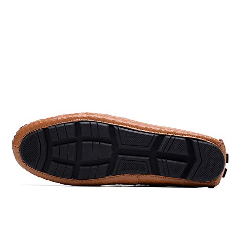 in Verde uomo suola mocassini resistente Dimensione per fashion Nycir scarpe Color gomma EU Mocassino da Marrone 45 unita suola all'usura guida tinta piatte scarpe business mocassini slip wqBvfAv8