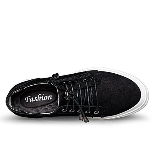 Minishion Boys Hombre Low Top Velcro Leisure Trainer Moda Sneaker Negro