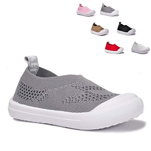 BiBeGoi Toddler Kids Boys Girls Breathable Sneakers Lightweight Running Shoes Knit Slip On Air Cushion Walking Outdoor Shoes (Toddler/Little Kid) ()