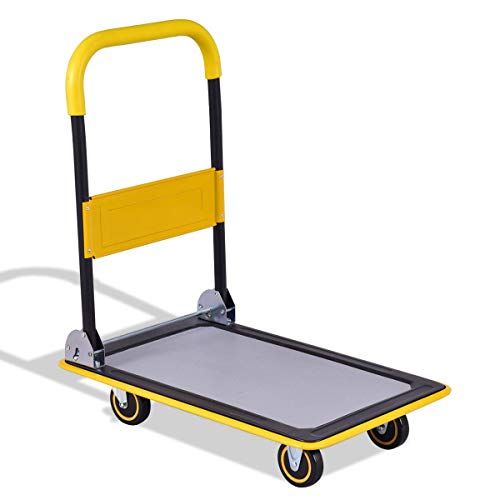 330 lbs Platform Cart Truck Folding Aluminum Hand Dolly Moving Push Warehouse Heavy Foldable Home Hardware Tools Dollies & Trucks Business & Industrial Material Handling & Wagon Commercial Household from Lek Store