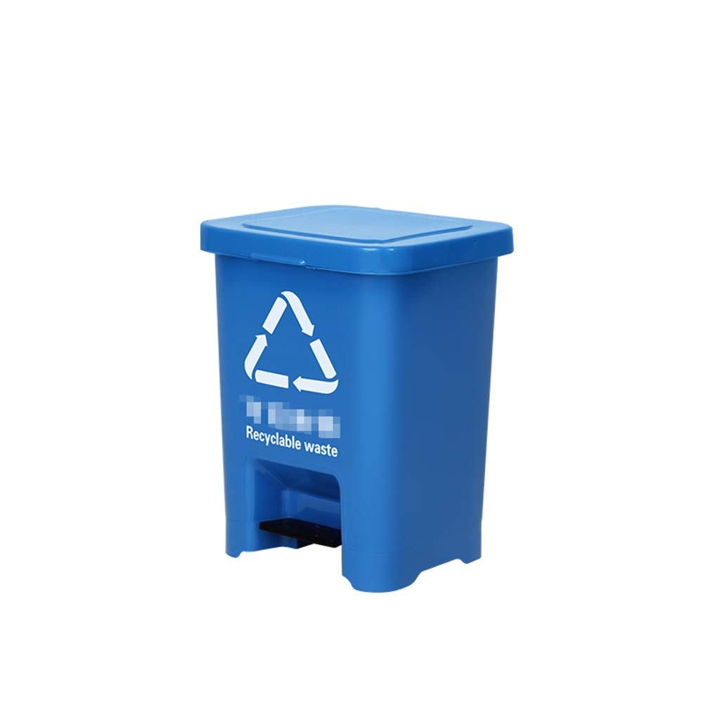Trash can Trash Can Thicken Plastic Pedal Waste Bucket Indoor Home Office Kitchen Covered Foot Bucket Waste Bin (Size : 45L)