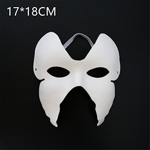 jannyshop 10 Pcs Hand-painted Blank Paper Pulp Mask for Masquerade Halloween Party Favors -