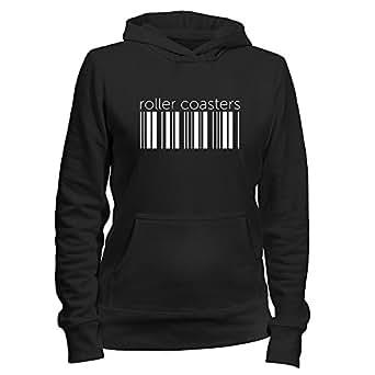 Idakoos - Roller Coasters barcode - Hobbies - Women Hoodie