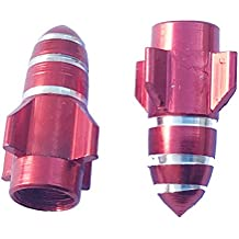2pcs Aluminum Burgundy Red Rocket Motorcycle Tire Tyre Wheel Valve Dust Stems Cap Cover for Honda NC700X