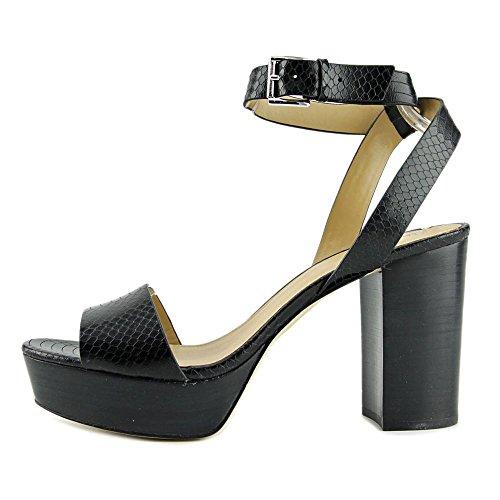 Michael Michael Kors Leonora Ankle Strap Pelle Sandalo con la Zeppa