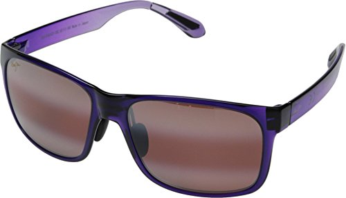 (Maui Jim Red Sands R432-28C | Polarized Purple Fade Rectangular Frame Sunglasses, with with Patented PolarizedPlus2 Lens)