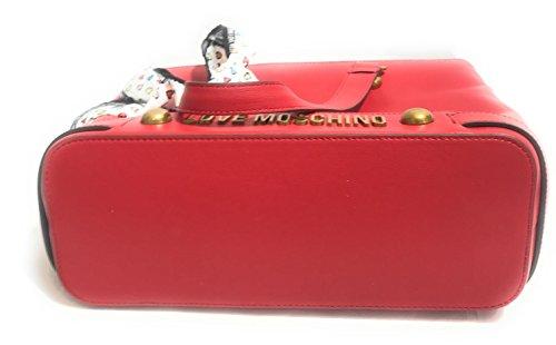 Bolso Rojo Al Mujer Promedio Hombro Moschino Para wRzqnRx