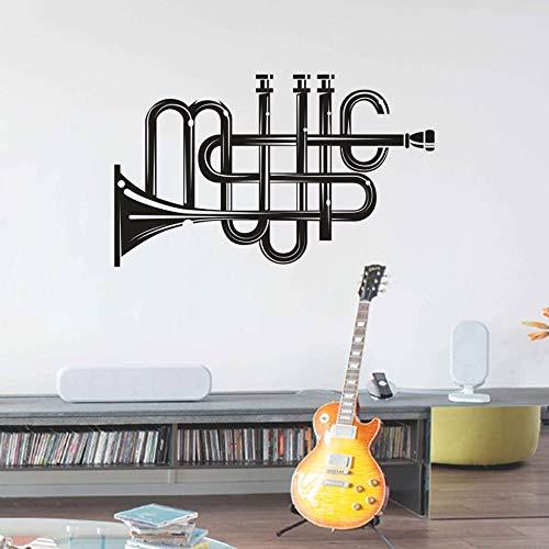 zhuziji Vinilo Tatuajes de Pared Instrumento Musical Patrón ...