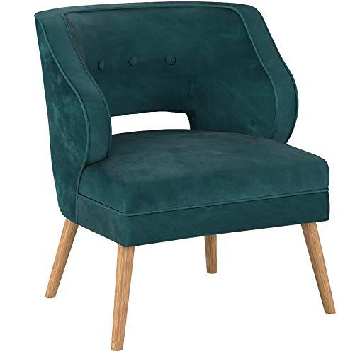 Christopher Knight Home 304036 Michaela Mid Century Teal Velvet Accent Chair,