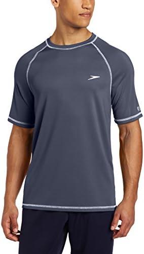 آستین کوتاه مردانه Speedo پیراهن شنا نگهدارنده آسان راش با محافظت در برابر UV و UPF 50+