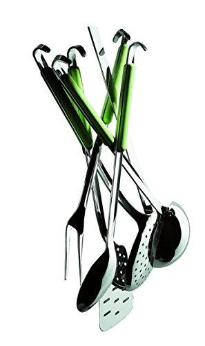 Mepra 10E62206 Fantasia Kitchen Set with Hook [6 Piece Set] Acid Green, Dishwasher Safe Cutlery