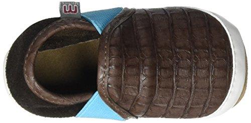 MeltonKrabbelschuh Slipper - Kroko - pantuflas Bebé-Niñas Marrón - Braun (Chestnut 481)