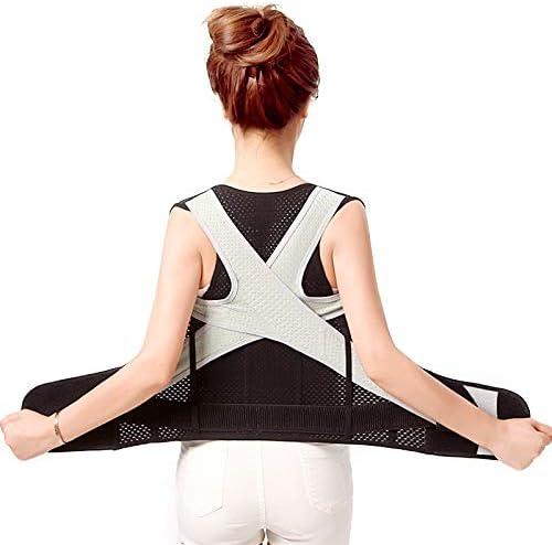 調節可能な姿勢装具、男性と女性の理学療法のための背部サポートは姿勢の痛みの軽減を改善します (Size : XL)