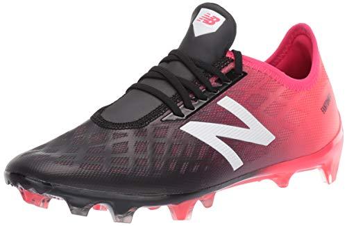 (New Balance Men's Furon V4 Soccer Shoe, Bright Cherry/Black/White, 9 D US)