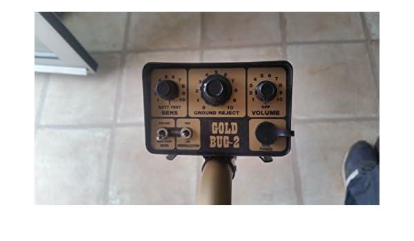 Fisher Oro bug-2 Detector de metales con bobina de búsqueda elíptica 6 1/2