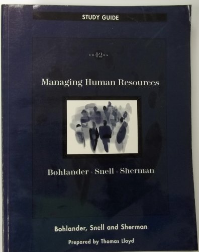 Managing Human Resources (Study Guide)