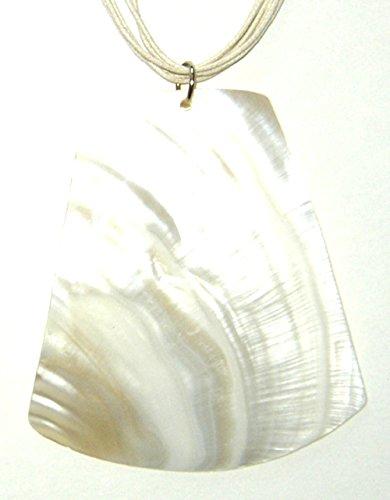 Huge Mother Of Pearl - Huge Mother of Pearl Trapezoid Shell Necklace Women Teen Girls Jewelry Silksalon