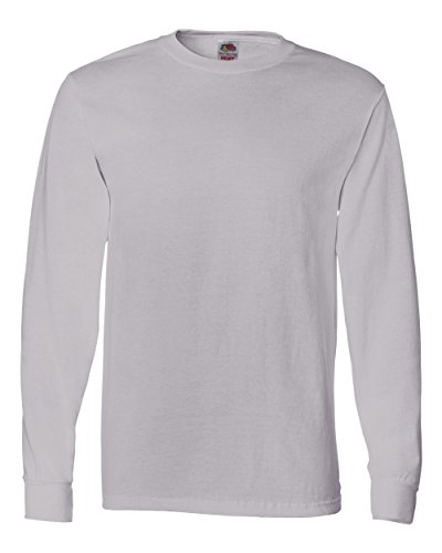 Fruit of the Loom Adult Heavy Cotton HDLong-Sleeve T-Shirt - Silver - 2XL