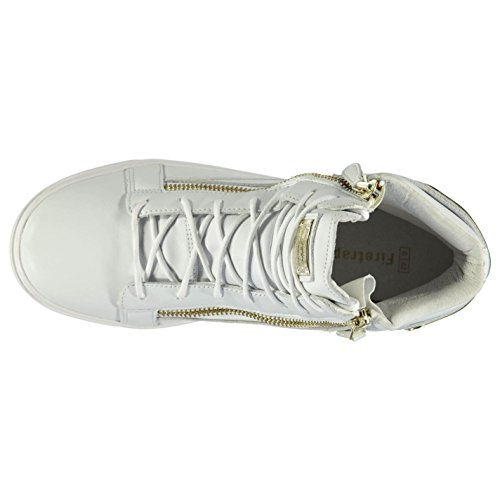 Shoes Womens Sneakers Hi Gold Footwear Rapture Firetrap Trainers White Top vI84Pqw