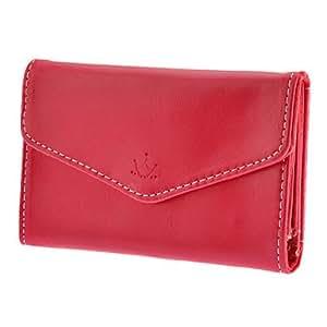 compra La más nueva llegada de la manera Desiner Señora Leather Wallet teléfono para el iPhone y Samsung (color surtidos) , Púrpula