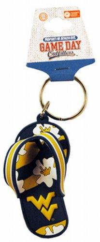 Ncaa Flip Flops (NCAA West Virginia Mountaineers Flip Flop PVC Keychain)
