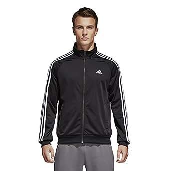adidas Mens Adidas Men's Athletics Essential Tricot 3 Stripe Track top S1754MCL319-P, Mens, Tank Top, S1754MCL319, Black/White, 2XLT