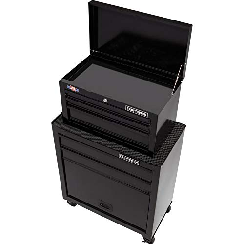 CRAFTSMAN 5-Drawer Ball-Bearing Steel Tool Chest Combo (Black) 1000 Series 26-in W x 44-in H by Craftsman (Image #2)