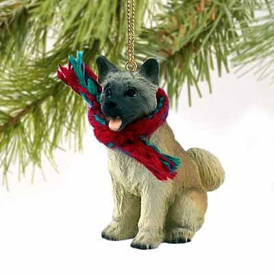 Akita Miniature Dog Ornament - (Akita Fawn Figurine)