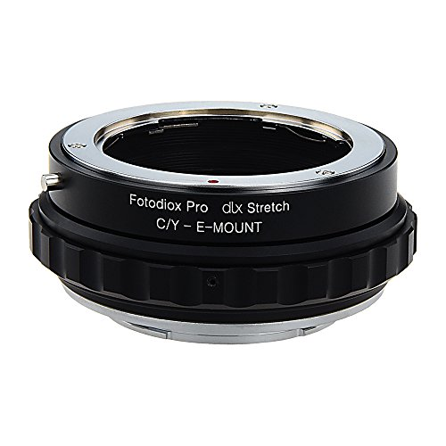 - Fotodiox DLX Stretch Lens Mount Adapter - Contax/Yashica (CY) SLR Lens to Sony Alpha E-Mount Mirrorless Camera Body with Macro Focusing Helicoid and Magnetic Drop-in Filters