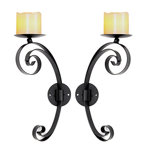Lilys Home Candle Holders Artistic Interior Wall Sconces Bla
