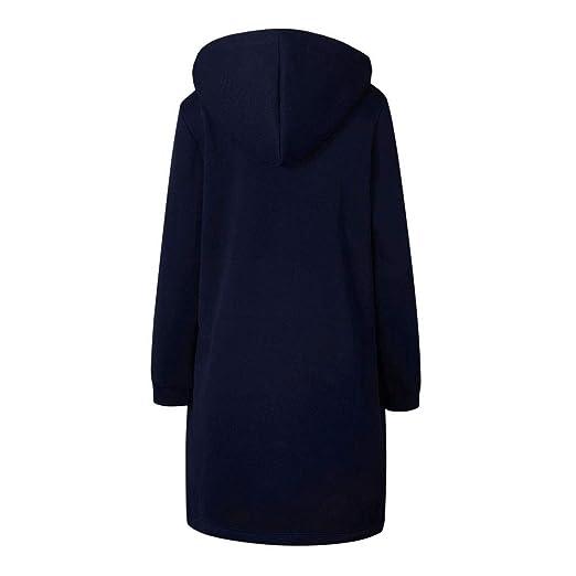 Mosstars Damen Reißverschluss Bomber Jacke Casual Mantel Outwear Unterhose Parka Jacket Wollmantel Winterjacke Lange Ärmel Jacken Sweatshirt Pulli