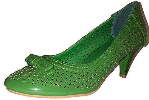 0a8854aafd77 3-W-Hohenlimburg Pfiffige Stiletto Pumps High Heels. Orange oder Grün. mit