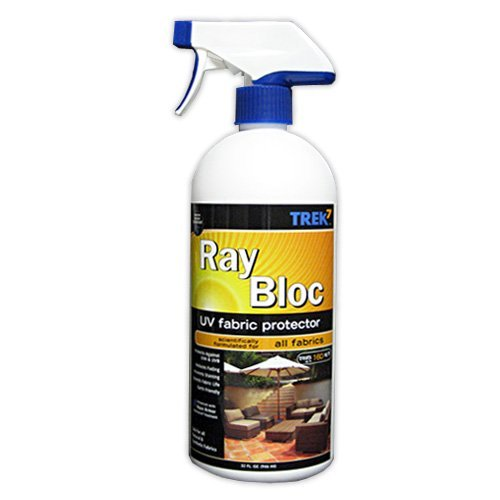 Trek7 Ray Bloc UV Fabric Spray Sun Protector, 32 Oz (Best Fabric Protector Spray)