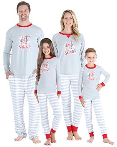 Sleepyheads Holiday Family Matching Winter Snowflake Grey Stripe Pajama PJ Sets - Womens (SHM-5012-W-LRG) (Family Xmas Pjs)