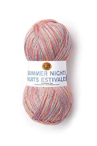 Lion Brand Yarn 512-308 Summer Nights Bonus Bundle Yarn, Island Breeze (1 skein/ball)