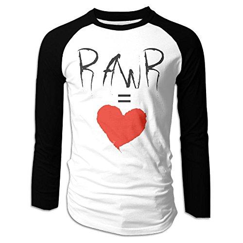 Puppylol Men's Rawr Means I Love You Long Sleeve Raglan T-Shirts (Toys R Us Albany Ny)