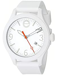 ESQ Movado Unisex 07101428 One White Silicone-Wrapped Stainless Steel Watch
