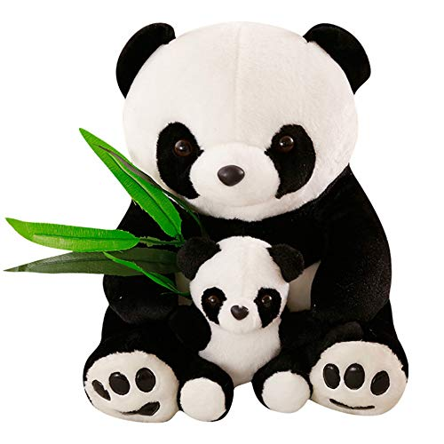 fantastic_008 Panda Plush Toy-Stuffed Animal Boy Girl Birthday Gift,Baby Shower Present- Panda Teddy Bear with Baby Panda Stuffed Animal Doll Decoration (9 Inches)]()
