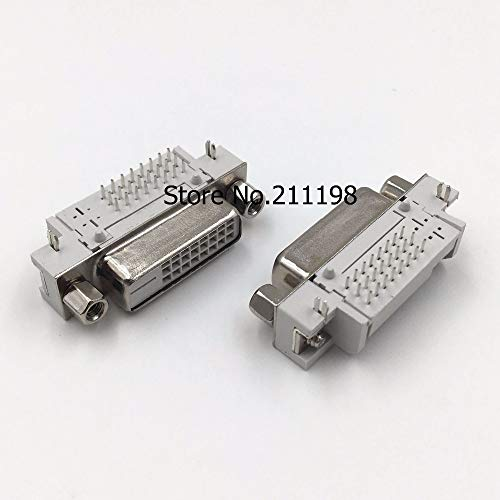 Socket Dvi (Davitu 5PCS/LOT DVI 24+1 socket female head 90 degrees DVI bending welding plate connector serial)