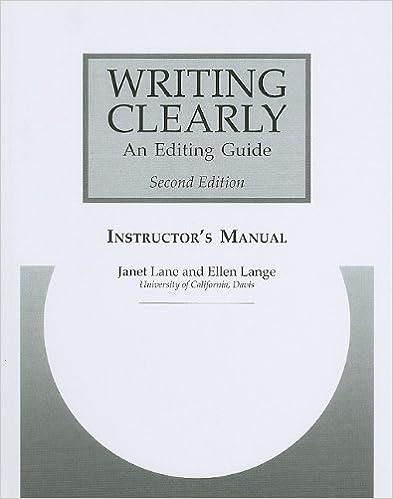Lue ilmaisia online-kirjoja ei ladata Writing Clearly Instructor's Manual: An Editing Guide PDF FB2